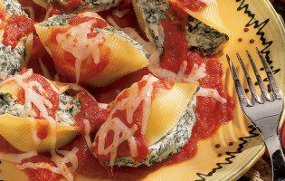Spinach-Stuffed Shells