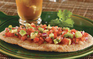Whole Wheat Flatbreads with Tomato-Avocado Salsa