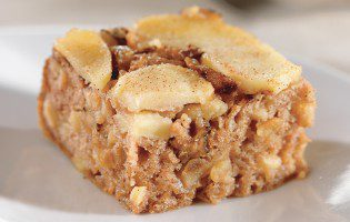 Upside-Down Apple and Walnut Spice Cake
