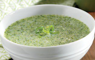 Broccoli Cream Soup with Green Onions