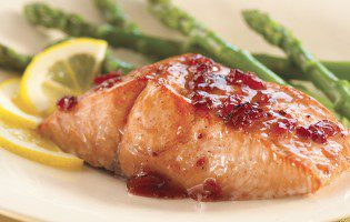 Cranberry Chutney Glazed Salmon