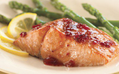 Cranberry Chutney Glazed Salmon Recipe