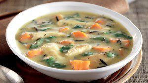 Easy Chicken, Spinach, and Wild Rice Soup
