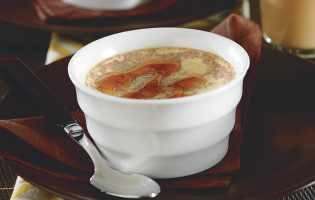 Creamy Baked Custard with Maple Syrup