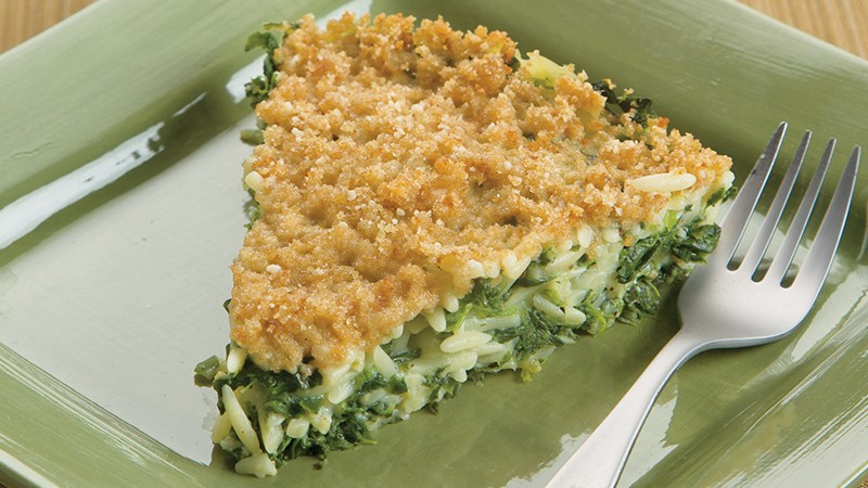 Orzo Spinach Pie