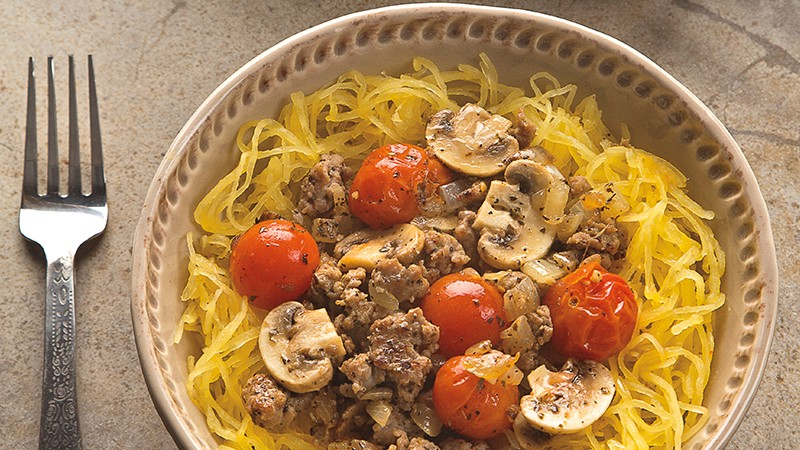 Spaghetti Squash and Sausage Supper