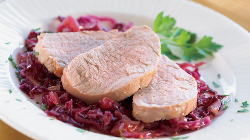 Pork Tenderloin with Cabbage