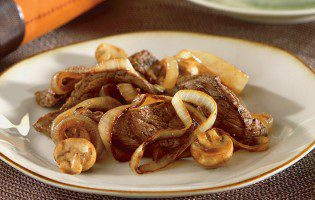 Balsamic Beef, Mushrooms, and Onions