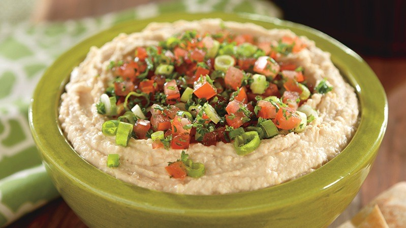 Vegetable-Topped Hummus