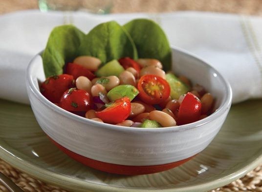 Grape Tomato Salad with White Beans and Cucumber