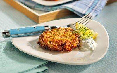 Tuna Cakes with Creamy Cucumber Sauce