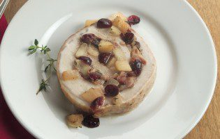 Apple-Cranberry Stuffed Pork Roast
