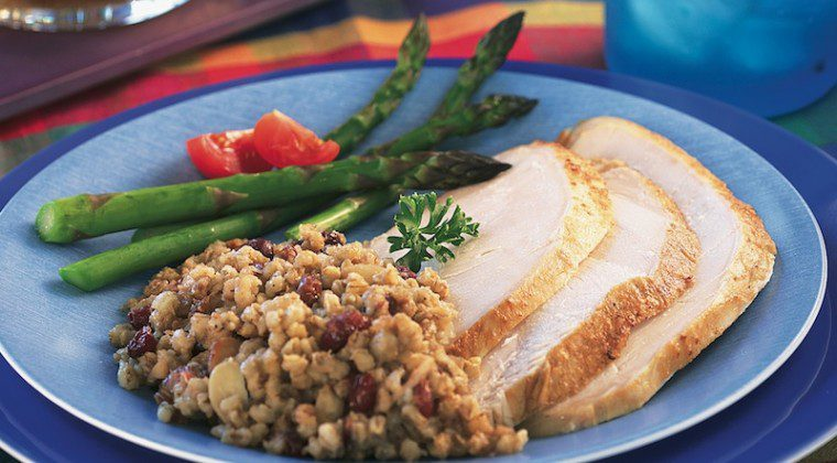 Turkey Breast with Barley-Cranberry Stuffing