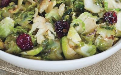 Caramelized Brussels Sprouts with Cranberries