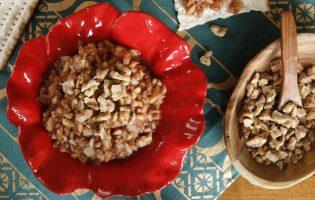 Apple Cinnamon Charoset with Candied Walnuts
