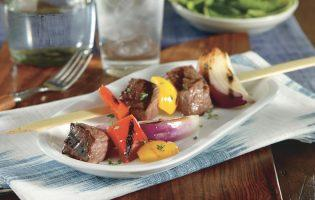 Garlic Grilled Beef Brochettes