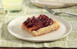 Glazed Plum Pastry