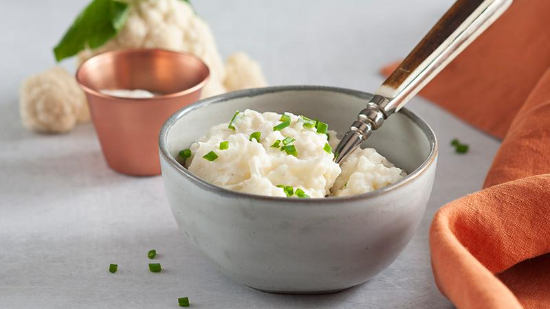 Mashed Potatoes and Cauliflower with Sour Cream