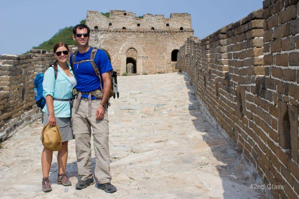 Oren and Cassie at the Great Wall of China