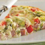 Diabetic recipes - Crustless Asparagus and Ham Quiche