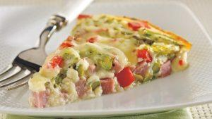 Crustless Ham and Asparagus Quiche