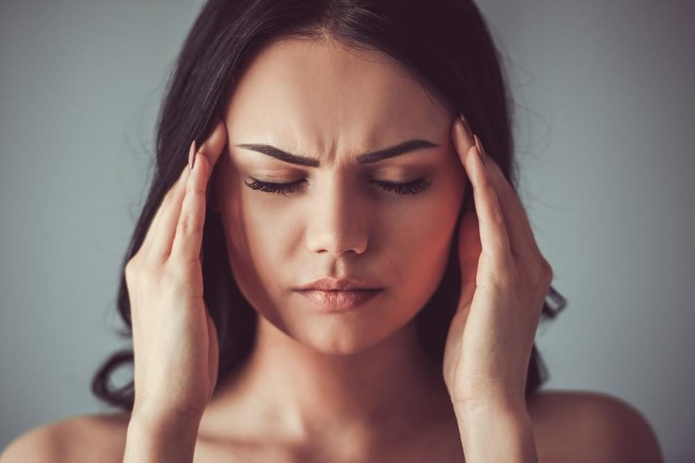 Woman With Diabetic Headache Pain
