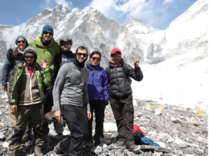 Friends and guides at base camp.