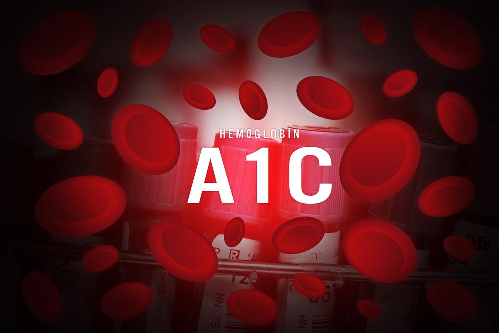Red blood cells with word A1C -- How to Lower A1C Levels Naturally