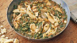 """Pappardelle"" of Chicken With Winter Pesto"