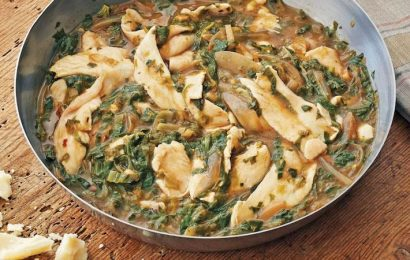 """""""Pappardelle"""" of Chicken With Winter Pesto"""
