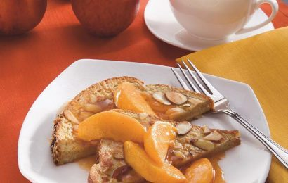 Almond French Toast with Peach Compote