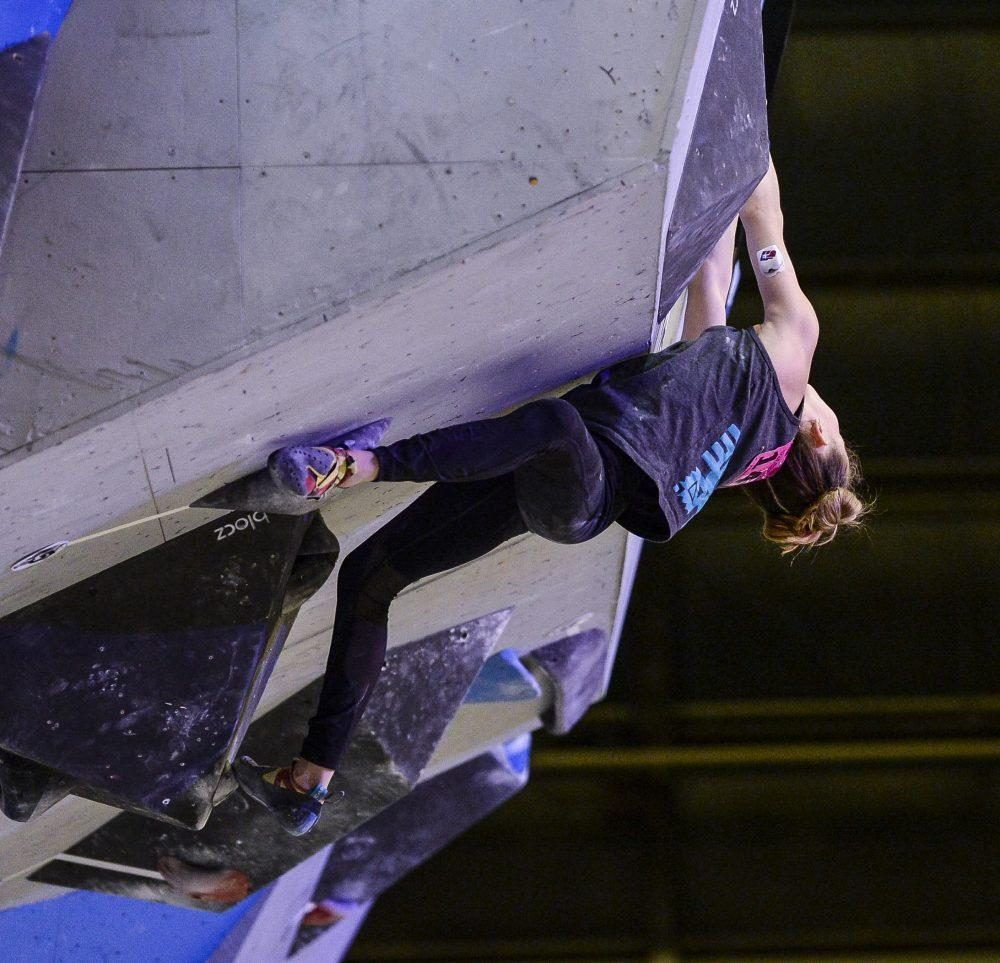 Katie Bone, a 13-year-old rock climber with type 1