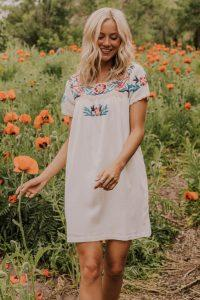 Shirley Embroidered Dress
