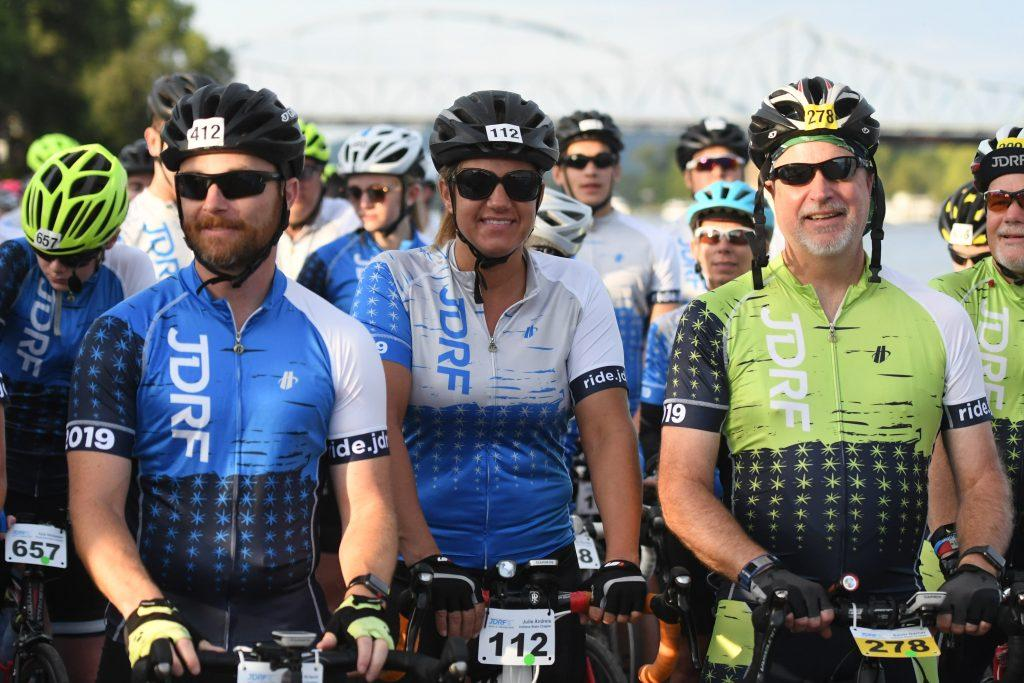 Riders help raise money for type 1 diabetes research.