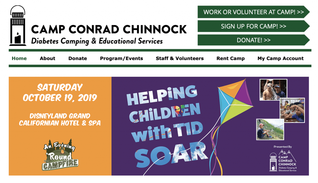 Camp Conrad Chinnock Is a type 1 diabetes camp