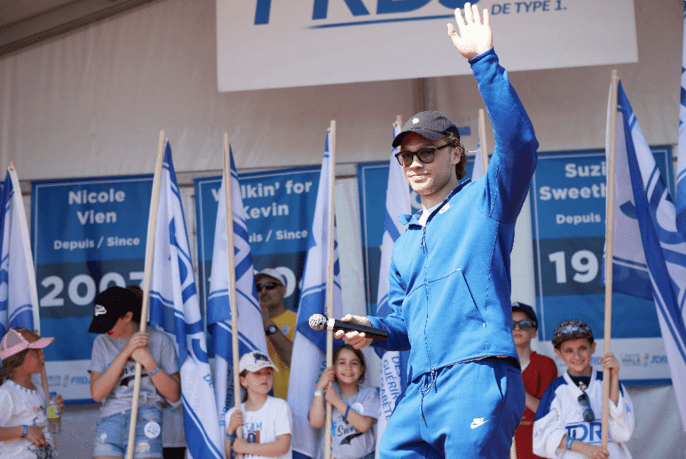 Max Domi at the Sun Life Walk to Cure Diabetes for JDRF, June 9 2019. (courtesy: JDRF.ca)
