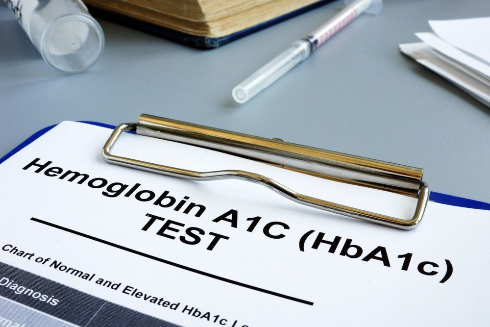 Paper with words A1C Test -- A1C Goals Missed in Most Type 1 Diabetes: Survey