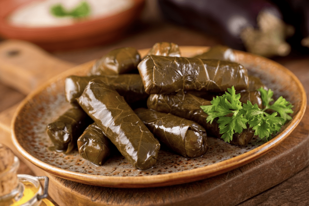 Diabetic Christmas Dinner - Stuffed Grape Leaves
