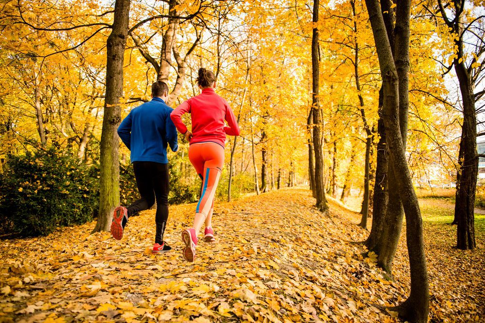 Pair exercising with diabetes in park -- Considerations for Exercising with Type 1 Diabetes