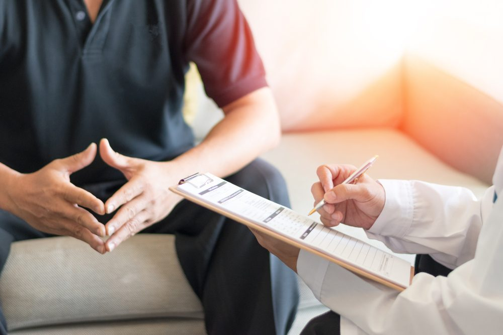 Man at doctor's office -- Sexual Dysfunction Common in Type 1 Diabetes