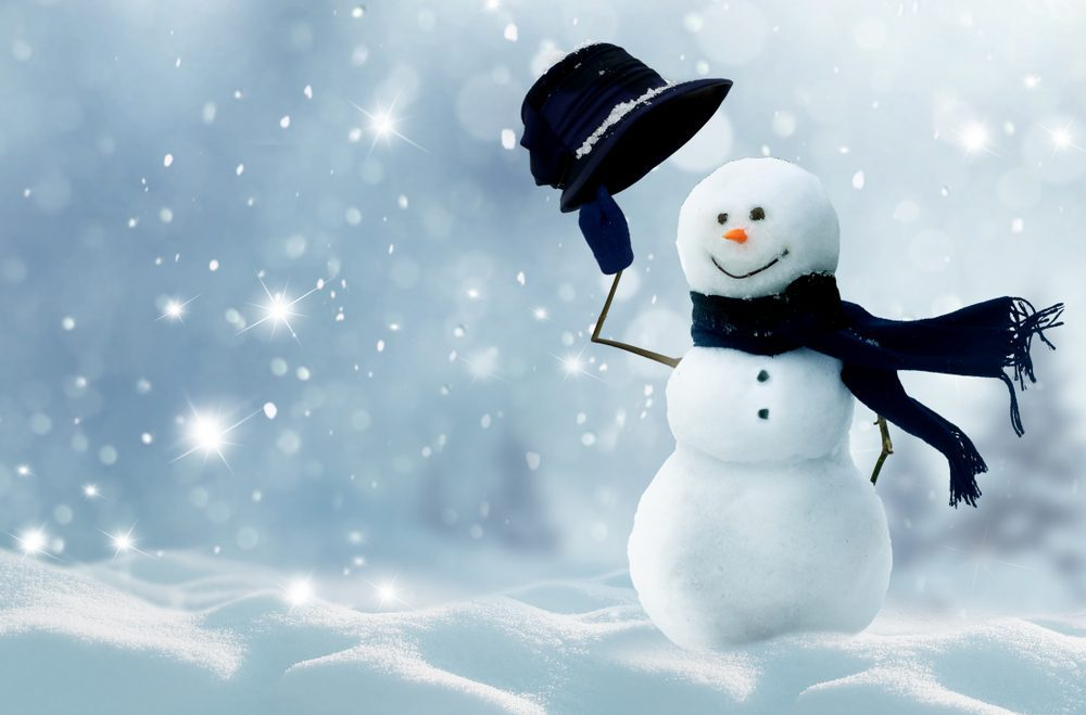 Snowman tipping hat -- Type 1 Diabetes and the Holidays: Tips to Stay Safe and Have Fun