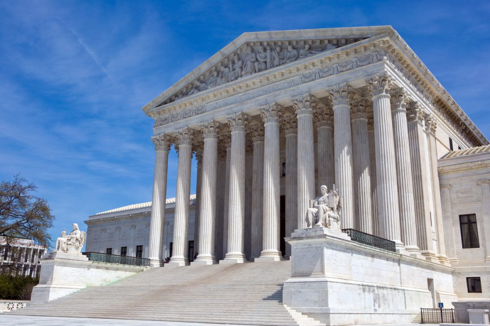 Supreme Court building -- ACA Court Ruling Leaves Health Coverage for Millions Uncertain