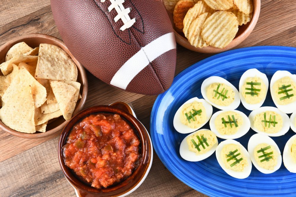 Selection of football party foods -- 9 Diabetes-Friendly Appetizers Perfect for Football's Big Game