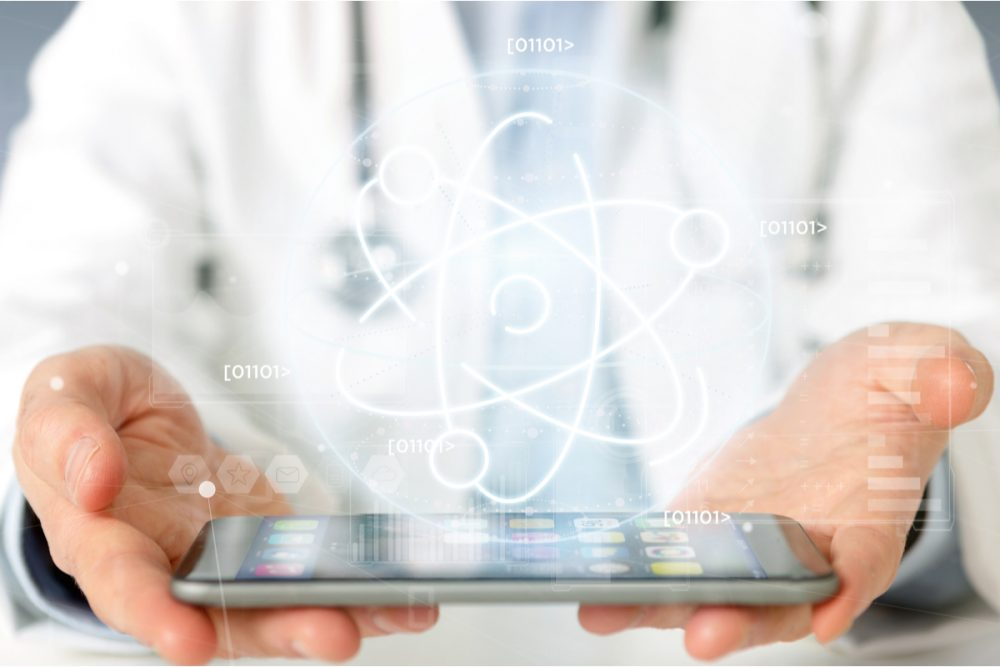Doctor holding tablet -- Diabetes Products CES 2020
