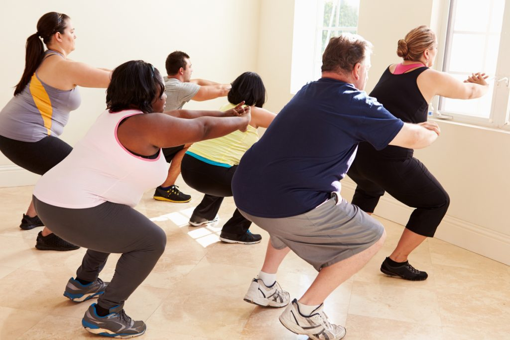 People in exercise class -- Fitness More Important Than Weight: Study