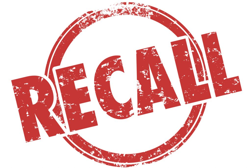Red recall stamp -- Belviq Medtronic Recall
