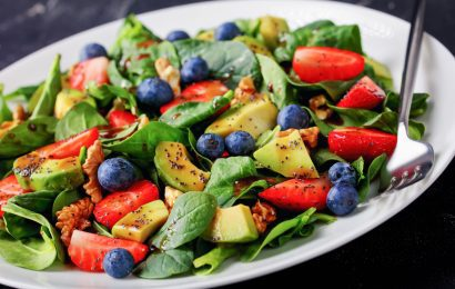 Avocado and Blueberry Fruit Salad