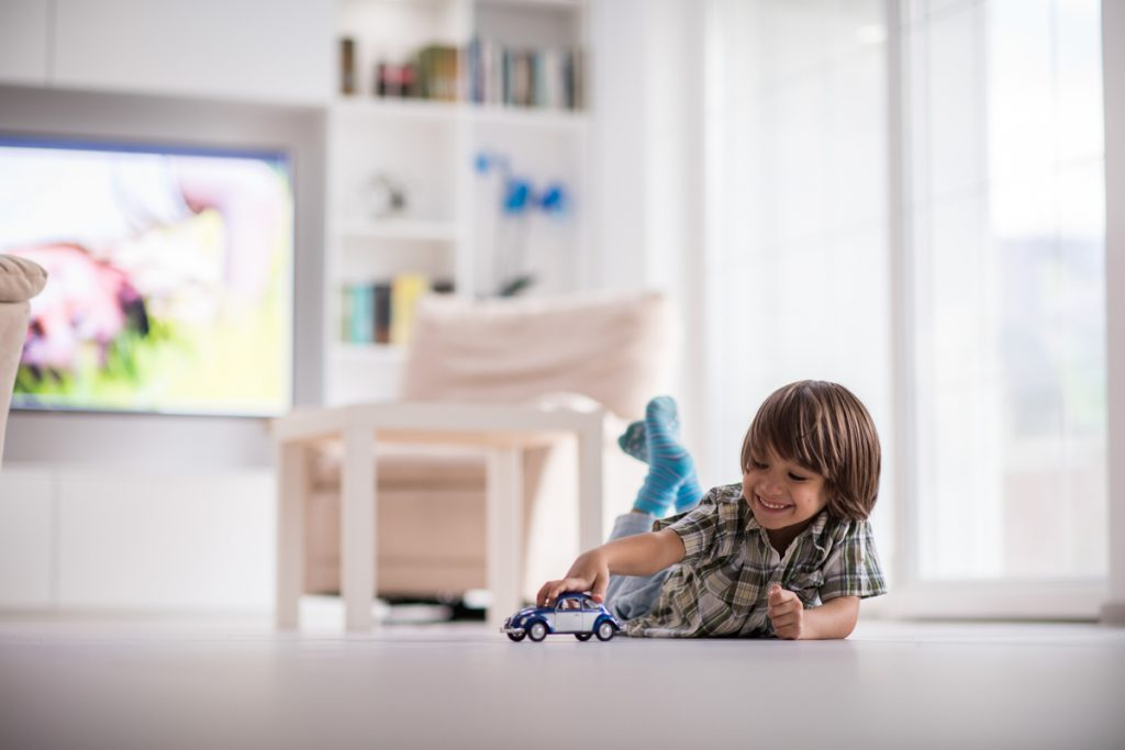 Kid playing with toy truck -- Coronavirus and Kids: Tips for Parents of Children With Diabetes