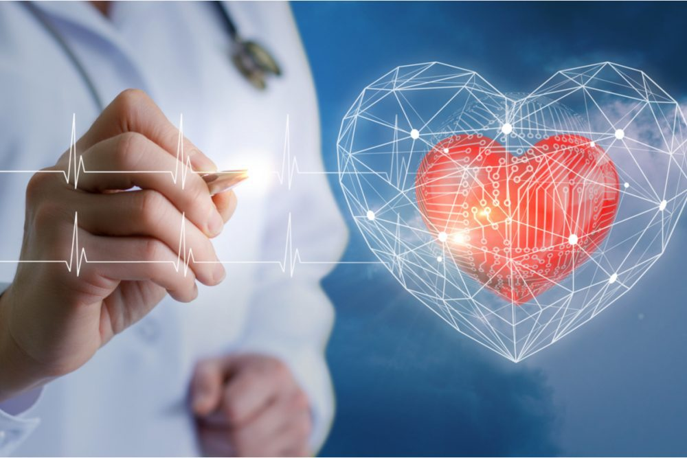 Doctor pointing to heart symbol -- Diabetes Drug Trulicity Approved for Heart Disease