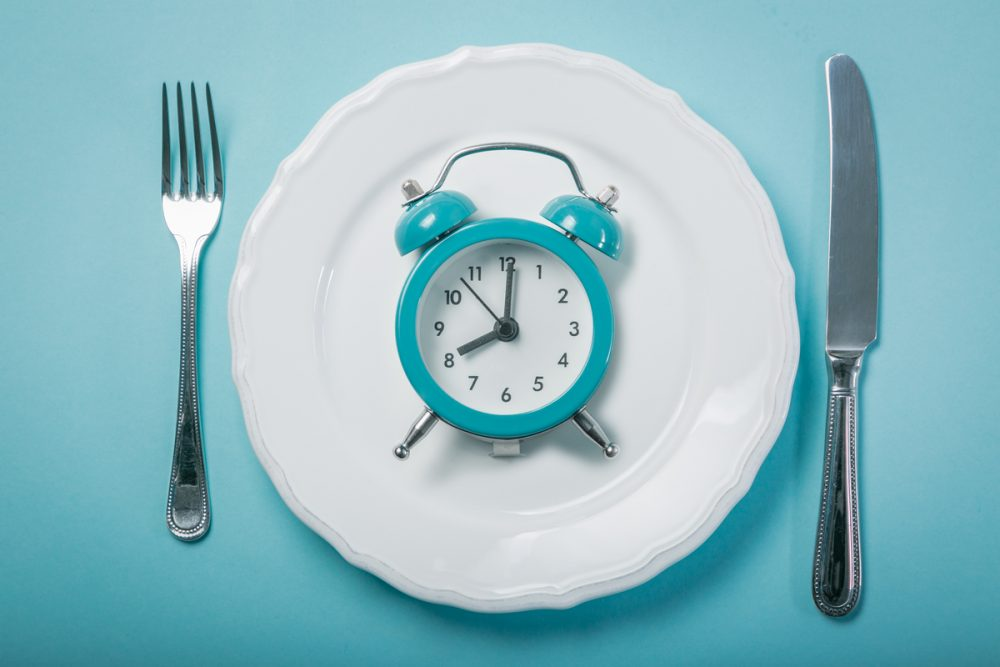 Clock on dinner plate -- When to Eat